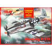 ICM 48154 - 1/48 Mustang P-51K USAF Fighter, WWII, plastic model scale model