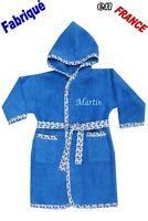 Peignoir enfant prénom brodé de 2 ans à 12 ans Ref.bleu gauloise . NEUF Ghimi