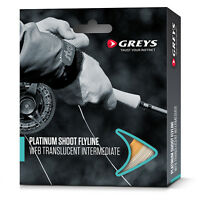 Greys Platinum Shoot Fly Fishing Line - White Floating / Clear Intermediate