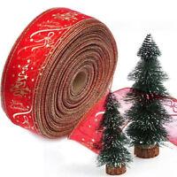 Novel Christmas Organza Ribbon Craft Gift Decor Wrap Xmas Tree Band Party  Tool