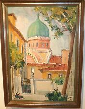 La Sinagoga-The Synagogue in Florence Oil Painting-1970-Rodolfo Marma