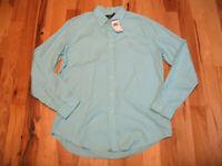 Ralph Lauren Sky Blue Cotton Long Sleeve Button Up Casual Shirt Mens Large NWT