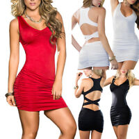 Women Bandage Backless Dress Bodycon Evening Party Cocktail Club Mini Dresses