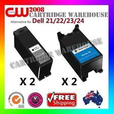 4 x Compatible Dell 21/22/23/24  for Dell V313 Dell V515w Dell V715w (2BK2CO)