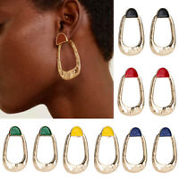 Fashion Gold Metal Dangle Earrings Women Statement Jewelry Big Drop Earring--