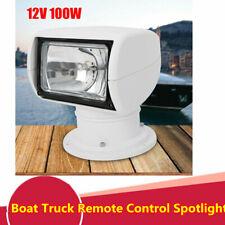 Remote Control Spotlight For Boat Truck Car Marine Remote Searchlight 12V 100W
