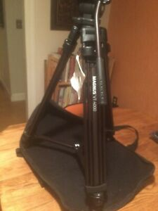 Magnus VT-4000 Portable Video Camcorder Tripod With Fluid Head in Case - NEW