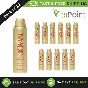 Jovan Gold Musk Oil Deodorant Spray For Women 150 ml / X12