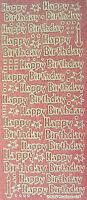 SPARKLE GLITTER HAPPY BIRTHDAY Type 3 PEEL OFF STICKER Stars Dots Candles