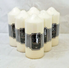 Pack of 6 Church Candle 100 Hour Ivory Wedding Non Drip Unscented Pillar