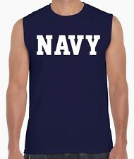 NAVY Physical Training US Military Crossfit Workout Gym PT Sleeveless T Shirt