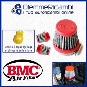 KIT FILTRO CONICO BMC + TAPPO FIAT 500 - 595 ABARTH SFIATO ESTERNO POP OFF
