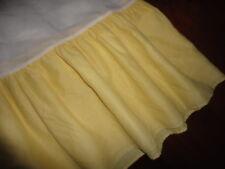 "Westpoint Stevens Yellow Ruffled Twin Bedskirt Not Split Corner 14"" Drop"