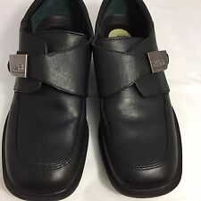 Kenneth Cole Reaction Boys Size 1.5 M Youth Black Dress Shoes Monk Strap Slip On