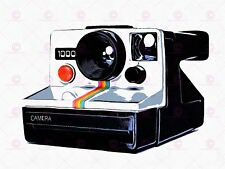 PHOTO PAINTING RETRO STYLE POLAROID CAMERA COOL LARGE ART PRINT POSTER LF1694