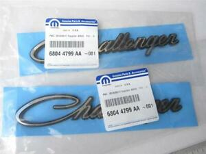 Two 2008-2020 Dodge Classic Challenger Fender Emblems Nameplate OEM Mopar Badge