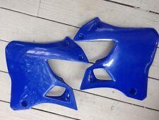 Yamaha YZ125 YZ250 YZ 125 250 1996-01 BLUE Radiator Shrouds SET by UFO NEW!