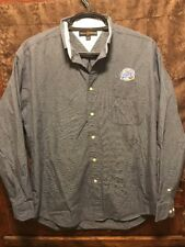 Miller Brewing ~ Lrg Lite Beer Tommy Hilfiger L/Slv Oxford Delivery Work Shirt