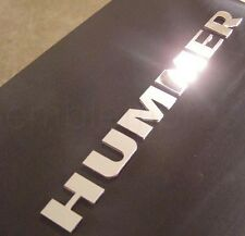 GM 2003 - 2010 H3 HUMMER FRONT BUMPER LETTERS STAINLESS INSERTS