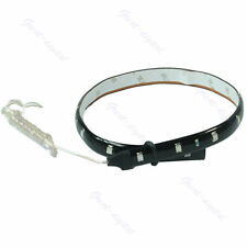 NEW Red Lamp 30CM 15 LED SMD String Waterproof Strip Light Flexible Car