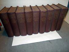 Antique Book 9 Vol Sir Walter Scott Scott's Waverley Novels Boston Edit. 1870's