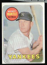 MICKEY MANTLE 1969 TOPPS BASEBALL CARD!!