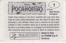 POCAHONTAS-SET COMPLETO PANINI- 1/232