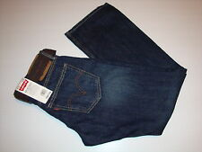 LEVI'S 514 RELAXED STRAIGHT JEANS Dark Blue Belt 30X30 NEW