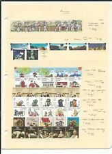 Australia Mint NH Strip Sets, 1977-2004, 4 Stock Pages, Neatly Identified