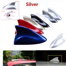 Universal Shark Fin Type Antenna Radio Signal Aerial For Car Auto SUV Van Silver