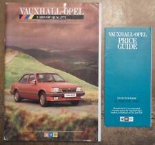 VAUXHALL OPEL 1986 UK Mkt Prestige Brochure + Prices - Monza Senator Astra Manta