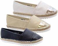 Ladies Womens Flats Casual Slip On Espadrilles Sandals Summer Pumps Shoes Size