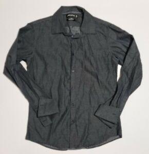 Peter Morrissey Men's Shirt Size M Long Sleeve Business Black & White