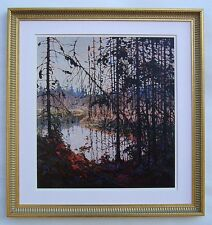"Tom Thomson, Group of Seven ""Northern River"" in Gold Leaf frame"