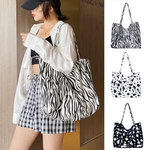 Women Large Capacity Shoulder Bag Animal Pattern Reusable Travel Handbag Totes