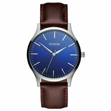 MVMT Watches 40 Series BLUE BROWN LEATHER Men's Watch Chronograph ORIGINAL