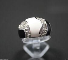 Markenlose Echte Edelstein-Ringe aus Sterlingsilber mit Zirkon für Damen