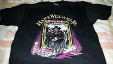 Hank Williams Jr Concert T-Shirt Lone Wolf Tour Size Xl