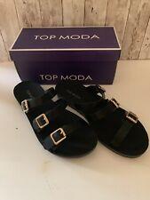 Top Moda Confession Women's Buckle Sandal NIB Size 8