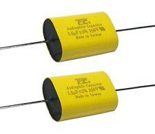 2pcs 1.5uF 250V Metallized Polyestr Film Capacitor 2% Audio Crossover Audiophile