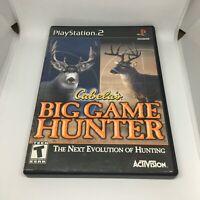 Cabela's Big Game Hunter (Sony PlayStation 2, 2002) CIB PS2 Complete NTSC-U/C