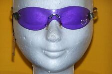 BIA LUCCI neu SONNENBRILLE frameless mono SUNGLASSES new purple heart Strass