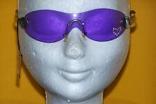 Bia Lucci nuevo gafas de sol frameless mono Sunglasses New corazón púrpura pedrería