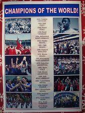 FIFA World Cup winners 1930-2018 - souvenir print