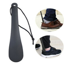 Portable Chic Black Stainless Steel Shoe Horn Spoon Shoe Lifter Shoe Horns.