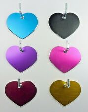 Pet Tags ~ Large Milled Hearts ~  Engraved to Order