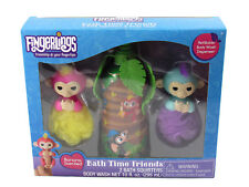 Fingerlings Bath Time Friends 2 Bath Squirters & Body Wash Banana Scented New