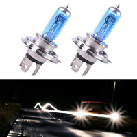 2Pcs 12V 100W H4 Xenon Gas Super Bright White Car Headlight Light Spot Beam Bulb