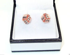 9CT HALLMARKED ROSE GOLD POLISHED 8MM KNOT STUD EARRINGS
