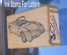 Corvette GM 1956 1957 letter rubber ink stamp Picture of Vette